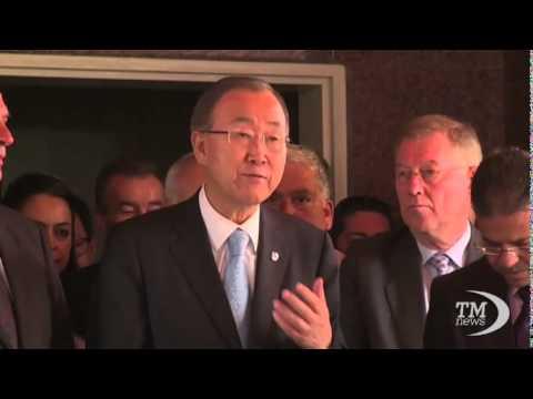 Ban Ki-moon in visita fra le macerie a Gaza