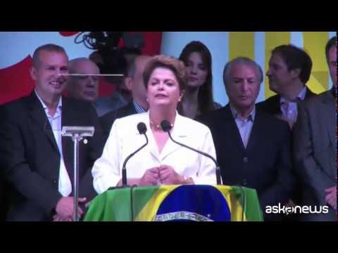 Dilma Rousseff rieletta presidente del Brasile: serve dialogo