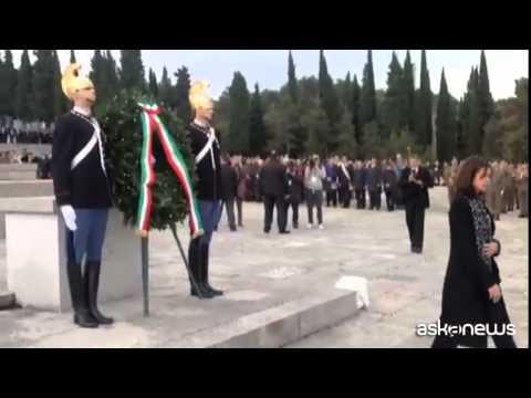 4 novembre, Boldrini a sacrario militare a Redipuglia