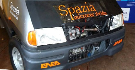 Enea presenta Spazia, microcar ibrida ed efficiente