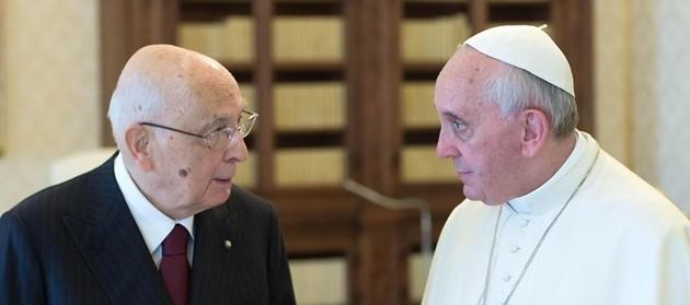 Napolitano dal Papa, incontro strettamente privato