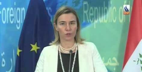 Mogherini a Baghdad: Ue al fianco dell'Iraq nella lotta all'Isis