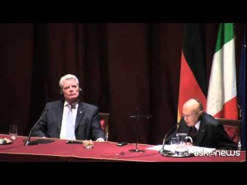 Napolitano: no all'immeschinimento dei rapporti Italia-Germania
