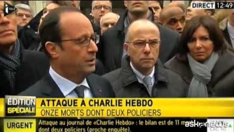 Hollande: a Charlie Hebdo atto di barbarie senza precedenti