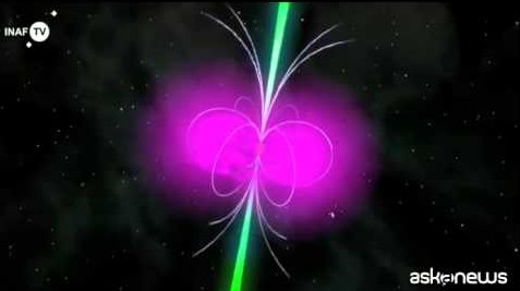 Trottola cosmica gioca a nascondino (video)