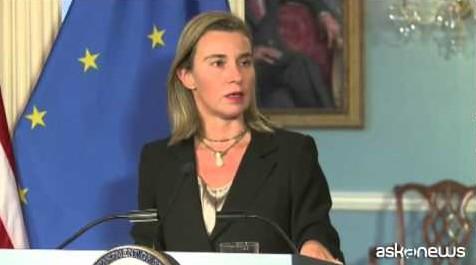 Mogherini incontra Kerry: Usa e Ue uniti su crisi Ucraina