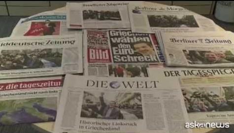Stampa divisa in Germania dopo la vittoria di Syriza
