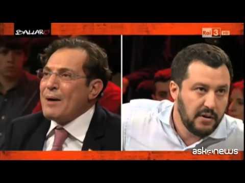 Ballarò, scontro tra Salvini e Crocetta