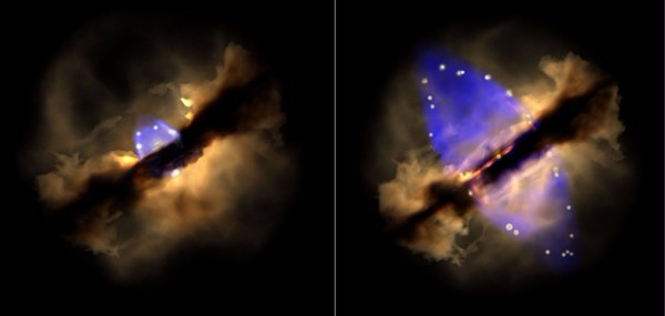 Astronomia, seguita nel tempo l'evoluzione di una giovane stella