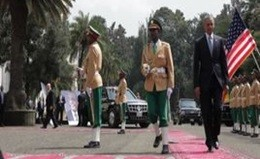 L'arrivo di Barack Obama in Etiopia