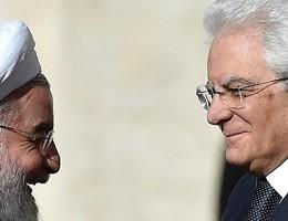 Il presidente iraniano Rohani in Italia incontra Mattarella