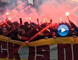 Tensione a Roma prima di Lazio-Galatasaray, petardi e bombe carta