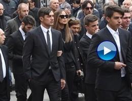 A Milano l'addio a Cesare Maldini, tra sportivi e gente comune