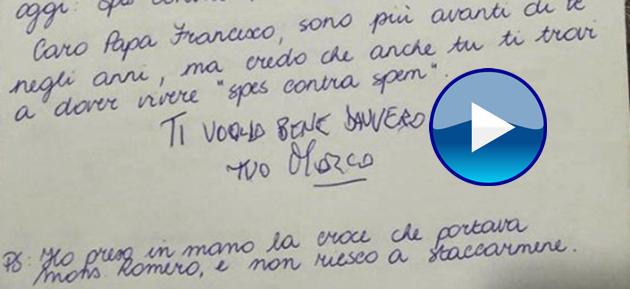 """Pannella, l'ultima lettera al Papa: """"Ti scrivo... vicino al cielo. Ti voglio bene davvero"""""""