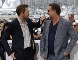 "A Cannes sfilano i ""Nice Guys"" Ryan Gosling e Russell Crowe"