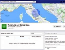 """Terremoto centro Italia, Facebook attiva il """"Safety Check"""" per rassicurare gli amici"""
