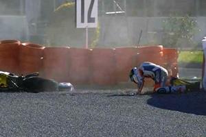 Motomondiale: test Valencia. Rins in ospedale, cade anche Iannone