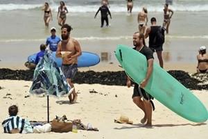 Le temperature a Sydney toccano i 40 gradi: tutti in spiaggia