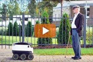 Alto un metro e mezzo e con 6 ruote, arriva il robot fattorino