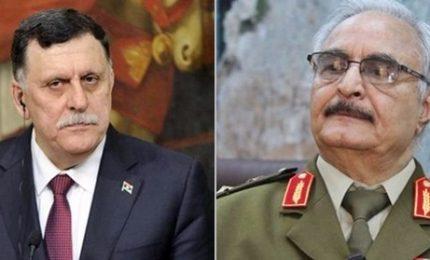 """Rivelato l'incontro """"segreto"""" Haftar-Sarraj al Cairo. In gioco il futuro della Libia"""