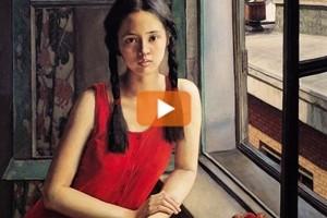 Ritratti di donna e pittura a olio, Yang Fei Yun a Firenze