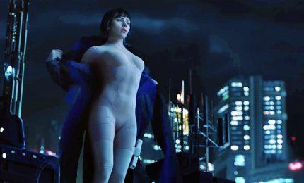 "Scarlett Johansson cyborg nel film ""Ghost in the Shell"""