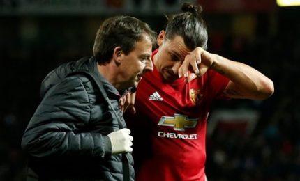Ibrahimovic, stagione finita: lesione crociato ginocchio