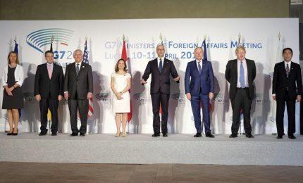 """Al G7 si discute di Siria, duro il segretario di Stato Usa: """"Sanzioni per Mosca"""""""