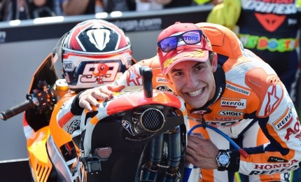Gp Germania, Marc Marquez in pole position. Sesto Rossi