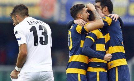 Serie B, il Verona vince 2-0 a Trapani ed è secondo