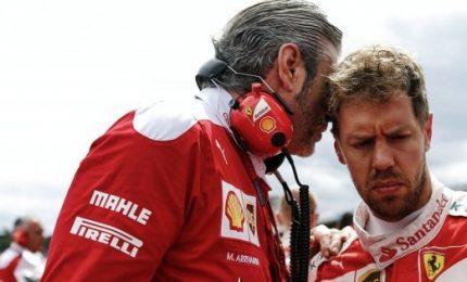 Prima fila tutta Ferrari, Vettel in pole