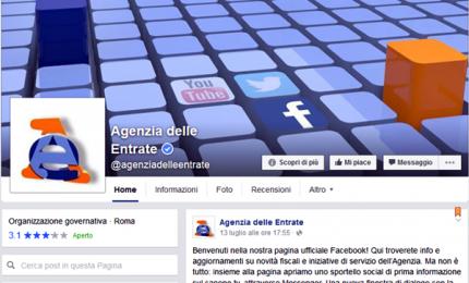 Fisco, assistenza anche su Facebook