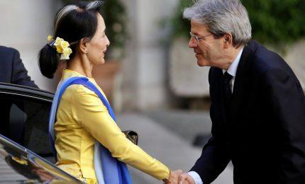La visita a Palazzo Chigi del premio Nobel, Aung San Suu Kyi