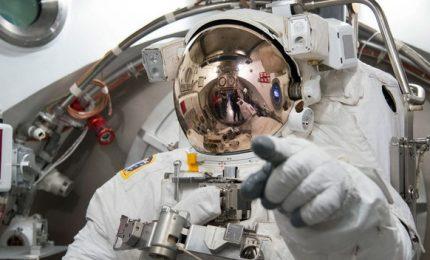 Spazio, Parmitano e colleghi visitano il modello della Orion