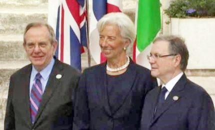 Moscovici, Padoan, Lagarde, Draghi: i big economia al G7