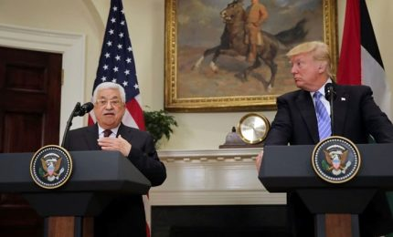 Pace in Medio Oriente e lotta all'Iran, Trump incontra Abu Mazen