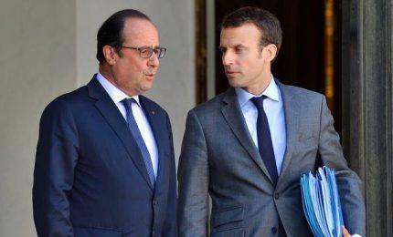 Prima uscita ufficiale di Macron con Hollande