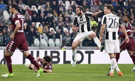 Juventus-Torino 1-1, Higuain nel recupero