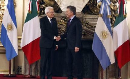 Mattarella in Argentina, l'incontro col presidente Macrì