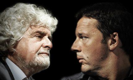 Scontro Renzi-Grillo su rifiuti Roma, Pd ramazzerà le strade