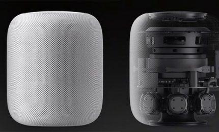 Apple lancia HomePod, casse intelligenti per la musica in casa