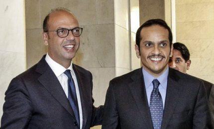 Qatar: auspichiamo ruolo Italia per risolvere crisi Paesi Golfo. Incontro Alfano-Al Thani