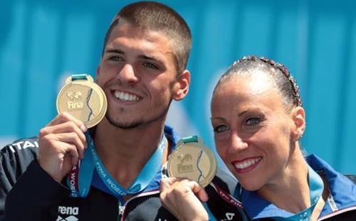 Nuoto sincronizzato Flamini Minisini storica medaglia d'oro