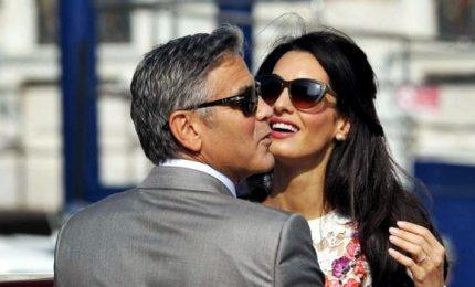 Prime vacanze da genitori in Italia per George e Amal Clooney