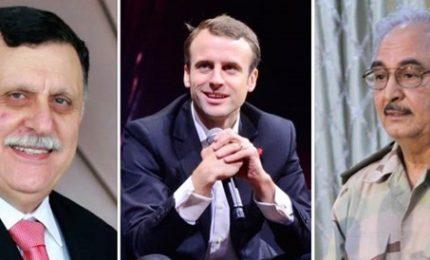 """Sarraj-Haftar a Parigi, Macron punta a """"dichiarazione congiunta"""". Ma per il capo dell'Eliseo è già un successo"""