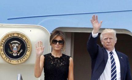 Varsavia, Donald Trump arrivato in Europa per il G20