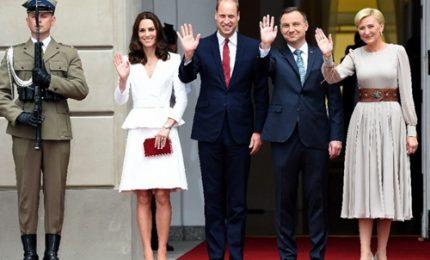 Brexit, Reali in campo: William e Kate in Polonia