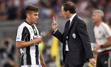 """Allegri: """"Niente crisi. Sporting? Sfide decisive. Dybala? Non cambio"""""""