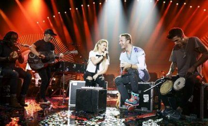 Shakira, Chris Martin e Justin Trudeau al concerto per G20