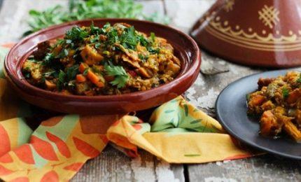 Il Tajine di verdure, tipica pietanza nordafricana